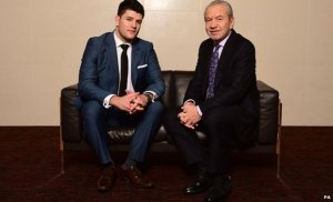 Winner Mark Wright with Lord Sugar. Courtesy of BBC News